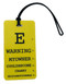 My owner could become cranky - Inventive Travelware luggage tag - Yellow