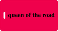 Luggage Tag -  Queen of the Road Red/Black- Inventive Travelware