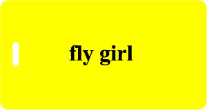Fly Girl Luggage Tag - Yellow