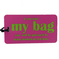 Luggage Tag - Red Hat Society