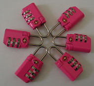 LK-106-Fuchsia - 6 TSA Travel Locks