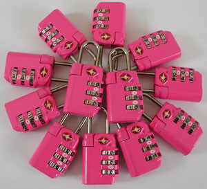 TSA Locks - Fuchsia 12pc bulk