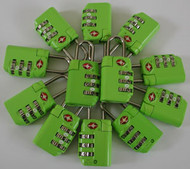 TSA Locks - Lime 12pc bulk