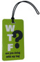 WTF- Funny texting luggage tag - Inventive Travelware - Lime