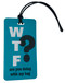 WTF- Funny texting luggage tag - Inventive Travelware - Aqua