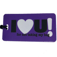"I ""heart"" U Luggage Tag"