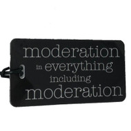 Moderation - Luggage Tag