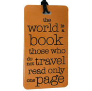 The world is a book - Luggage Tag