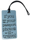 Luggage tag if you look like your passport photo