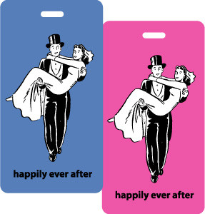 Bride & Groom - 2pc Luggage Tag set