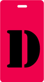 "Luggage Tag - Upper Case ""D"" - Red/Black - Inventive Travelware"