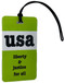 USA Liberty & Justice for All Luggage Tag - Lime