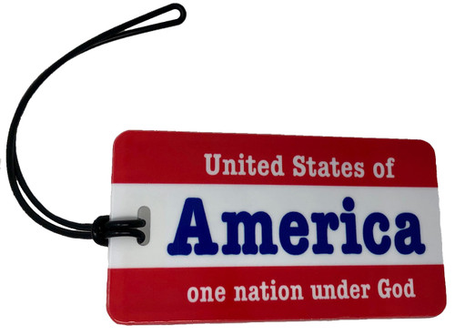 America luggage tag
