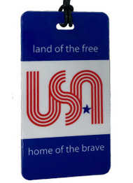 USA Land of the Free Luggage Tag