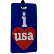I Heart USA Luggage Tag