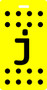 j - Polka Dot Luggage Tag - Yellow/Black