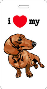 I ♥ My Dachshund Bag Tag