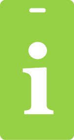 "Luggage Tag - Lower Case ""i"" - Lime/White - Inventive Travelware"