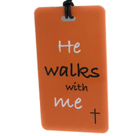 He Walks With Me - Bag Tag