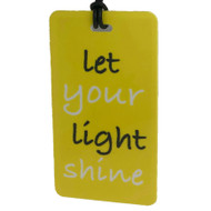 Luggage Tag -Let Your Light Shine
