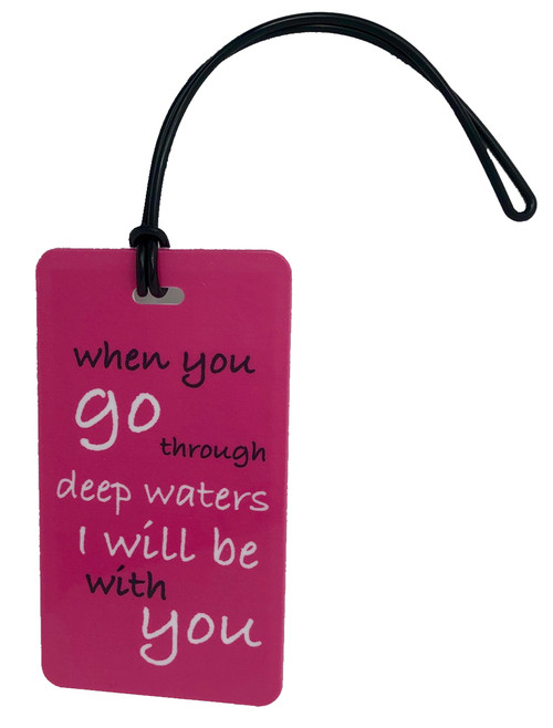 troubled waters luggage tags fuchsia