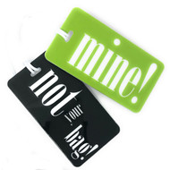 Not Your Bag! & Mine! 2 pc Luggage Tag Set