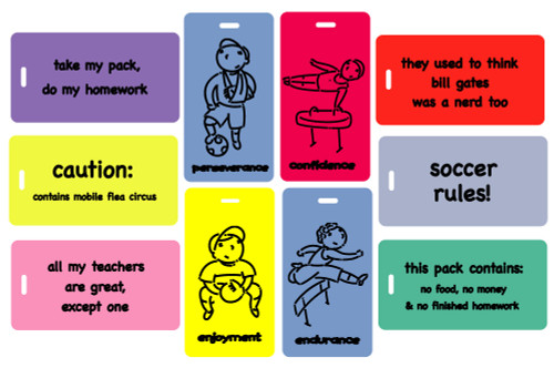 kids luggage tag party pack
