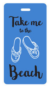 Beach luggage tag - Blue