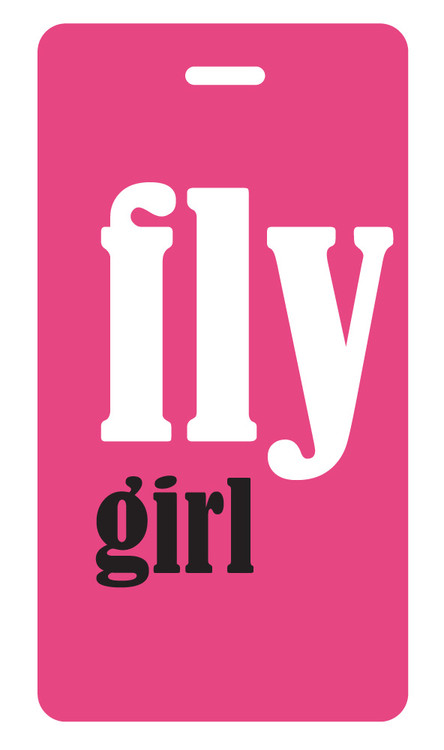 fly girl luggage tag - Fuchsia