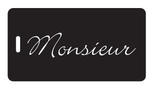 Monsieur luggage tag