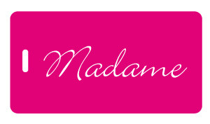 Madame luggage tag