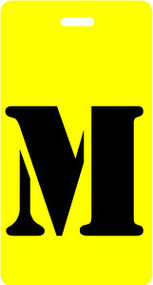 "Luggage Tag - Upper Case ""M"" - Yellow/Black - Inventive Travelware"