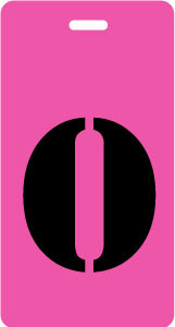 "Luggage Tag - Upper Case ""O"" - Fuchsia/Black - Inventive Travelware"