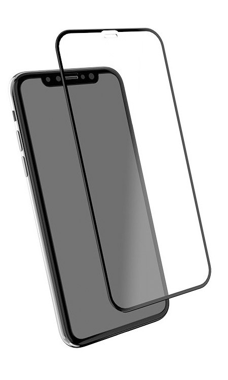 EFM TT 2X Temper + Sapphire Screen Armour iPhone XR - Clear/Black Frame