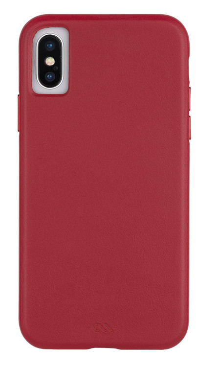 Case-Mate Barely There Leather Case iPhone X/Xs - Cardinal