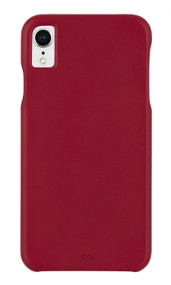 Case-Mate Barely There Leather Case iPhone XR - Cardinal
