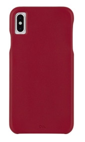 Case-Mate Barely There Leather Case iPhone Xs Max - Cardinal