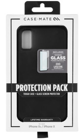 Case-Mate Tough Case and Screen Protector iPhone X/Xs - Black