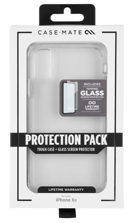 Case-Mate Tough Case and Screen Protector iPhone XR - Clear