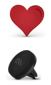 Case-Mate Car Charm with Magnetic Car Mount - Red Heart