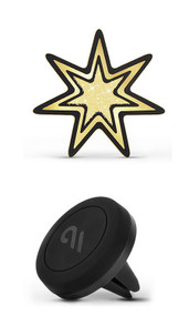 Case-Mate Car Charm with Magnetic Car Mount - Gold Starburst