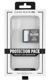 Case-Mate Tough Case and Screen Protector iPhone X/Xs - Clear