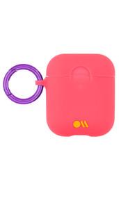 Case-Mate Neon Air Pods Hook Ups Case and Neck Strap - Orange
