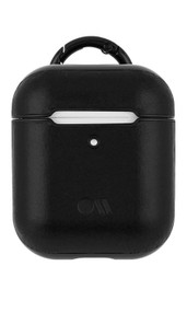 Case-Mate Leather Air Pods Hook Ups Case and Neck Strap - Black
