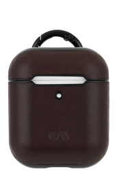 Case-Mate Leather Air Pods Hook Ups Case and Neck Strap - Brown