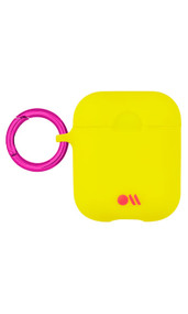 Case-Mate Neon Air Pods Hook Ups Case and Neck Strap - Yellow