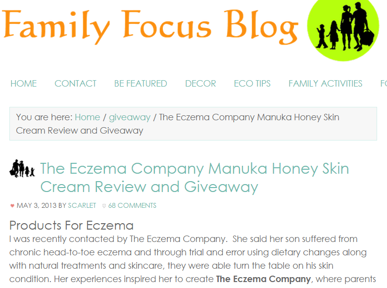 Manuka Honey Skin Cream for Eczema Review