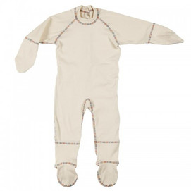Eczema sleepsuit in soft, organic cotton.