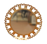 Round Curl Edge Mirror