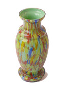 Czechoslovakian Vase Green/Multi